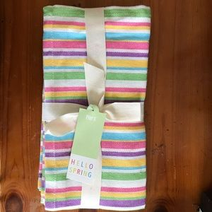 Pier 1 spring Easter summer striped decor napkins